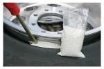 Балансировка колес бисером, гранулами, порошком