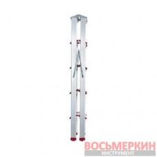 Стремянка алюминиевая двухсторонняя 5 ступеней высота 1100мм LT-1105 Intertool