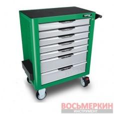 Тележка с инструментом (Pro-Plus) 7 секций 261ед. зеленая GE-26117 Toptul