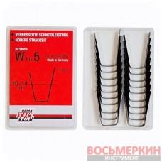 Ножи для нарезки протектора трапецевидные W5 11мм упаковка 20шт Tip Top Германия