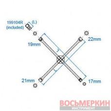 Ключ балонный крестовой 17мм x 19мм x 21мм x 22мм 19911722 KingTony 400мм