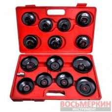 Комплект съемников масляных фильтров 14ед. (крышки) HS-E1245 Heshitools