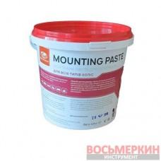 Монтажная паста 0,9 кг красная с герметиком аналог Toal Acrilmed ИнструментаЛЛика