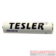Батарейка Alkaline AAA белая мини-пальчик Tesler комплект 4 штуки цена за 1 штуку