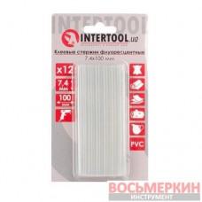 Комплект флуоресцентных клеевых стержней 7.4 мм х 100 мм 12 штук RT-1039 Intertool