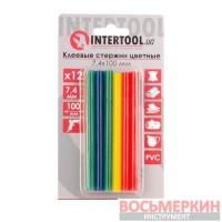 Комплект цветных клеевых стержней 7.4 мм х 100 мм 12 штук RT-1031 Intertool
