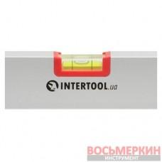 Уровень строительный 600 мм 3 глазка сечение 21 мм х 46 мм MT-1222 Intertool