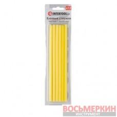 Комплект желтых клеевых стержней 7.4 мм х 200 мм 12 штук RT-1051 Intertool