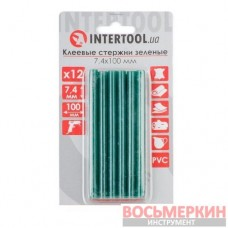 Комплект зеленых клеевых стержней 7.4 мм х 100 мм 12 штук RT-1058 Intertool