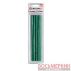 Комплект зеленых клеевых стержней 7.4 мм х 200 мм 12 штук RT-1059 Intertool