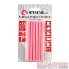 Комплект розовых клеевых стержней 7.4 мм х 100 мм 12 штук RT-1047 Intertool