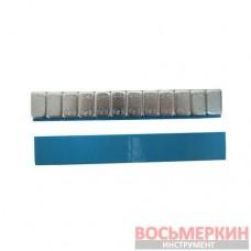 Груз самоклеящийся низкий 12 х 5 г металл голубая лента