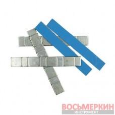 Груз клеящийся низкий голубая лента 4х10г+4х5г металлический 100 шт/уп