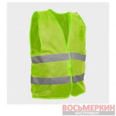 Жилет сигнальный зеленый XL 60 см х 70 см 120 гр/м2 SP-2027 Intertool