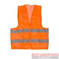 Жилет сигнальный оранжевый XXL 62 см х 70 см 100 гр/м2 SP-2026 Intertool