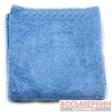 Салфетка супер-микрофибра 40х40 см синяя Allegrini
