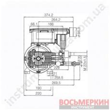 Электромотор 4-полюсный 1400 об/мин 21 л/мин 130 бар MTP RW 8.21 Comet