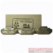Грузик набивной для стандартных дисков 25 г Украина