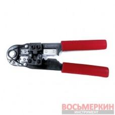 Клещи для опрессовки штекеров RJ-45 8р8с HT-7054 Intertool