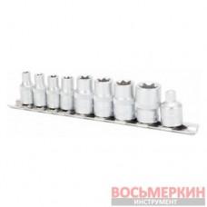 Головоки TORX E 1/4 на планке 9 предметов T33204 Ampro