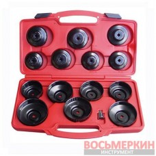 Набор сьемников масляных фильтров , 14 предметов T75871 Ampro
