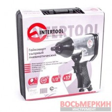 Гайковерт пневматический 1/2 345Нм 7000об/мин PT-1101 Intertool в чемодане + набор головок 17ед