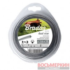 Леска Ripper Dual звезда 2,0 мм х 15 м ZRG2015B Bradas
