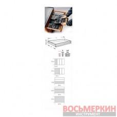 Набор ключей накидных в ложементе 7 единиц от 6 мм до 19 мм 2424 T40 24240040 Beta