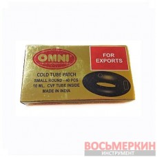Набор камерных латок Omni овальные 40x30 мм 50 шт Mini + клей 16+