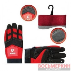 Перчатка красная с черными вставками спандекса 25 см SP-0143 Intertool