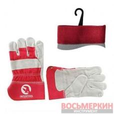 Перчатка замшевая 26,5 см манжет обрезиненный SP-0152 Intertool