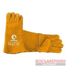 Перчатка замшевая 35 см черная SP-0157 Intertool