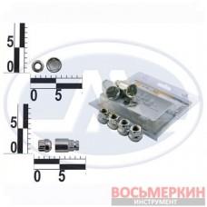 Набор секреток колесных 12 x 22 шаг 1.5 2 ключа 6 предметов 408145 Н2 WALLINE 52030