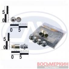 Набор секреток колесных 12 x 37,5 шаг 1.5 2 ключа 6 предметов 436445 Н2 (X2) WALLINE 52042