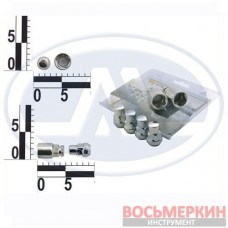 Набор секреток колесных 14 x 35 шаг 1.5 2 ключа 6 предметов 416448 Н2 WALLINE 52046