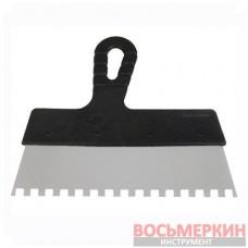 Шпатель из нержавеющей стали 200 мм с зубом 8 мм х 8 мм KT-2208 Intertool