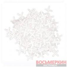 Набор дистанционных крестиков для плитки 6.0 мм 100 штук HT-0356 Intertool