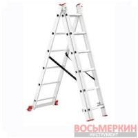 Лестница алюминиевая 3 секции ун-я расклад. 3*6ступ. 3.41м LT-0306 Intertool