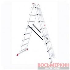 Лестница алюминиевая 3 секции ун-я расклад. 3*8ступ. 5.09м LT-0308 Intertool