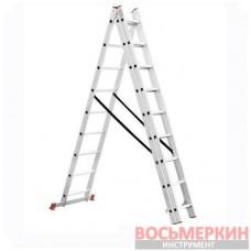 Лестница алюминиевая 3 секции ун-я расклад. 3*9ступ. 5.93м LT-0309 Intertool