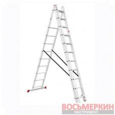 Лестница алюминиевая 3 секции ун-я расклад. 3*11ступ. 7.33м LT-0311 Intertool