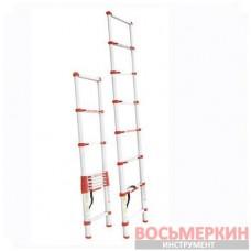 Лестница алюминиевая телескопическая 8ступ. 2.60м LT-3026 Intertool