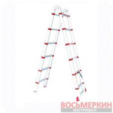 Лестница алюминиевая телескоп. раскладная ун-я 12ступ., 3.85м LT-3039 Intertool
