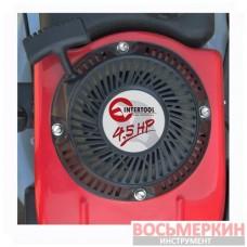 Газонокосилка бензиновая 4.5HP, 3.4кВт, ширина среза 400мм LM-4540 Intertool