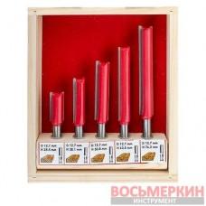 Набор фрез пазовых прямых 5 штук HT-0075 Intertool