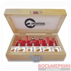 Набор фрез концевых по дереву 6 единиц HT-0072 Intertool