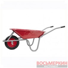 Тачка садово-строительная 65л 130кг 1 пневмоколесо WB-0613 Intertool