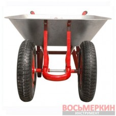 Тачка садово-строительная 65л 140кг 2 пневмоколеса WB-0623 Intertool