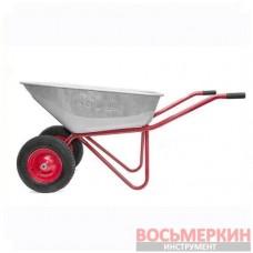 Тачка садово-строительная 100л 180кг 2 пневмоколеса WB-1025 Intertool