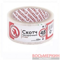 Скотч прозрачный 48 мм х 50 м х 52 мкм KT-0902 Intertool